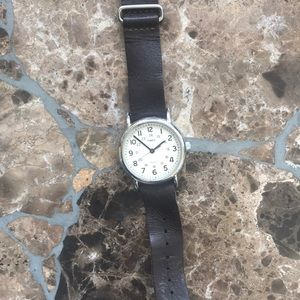 Timex Leather Boyfriend watch